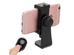 Poweradd Universal Cell Phone Tripod Mount Adapter Holder Mount Stand Clip for iPhone Samsung with Wireless Remote Shutter