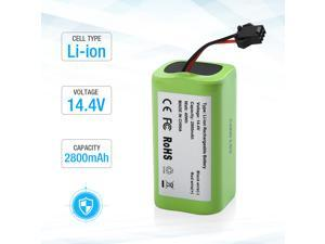 14.4v 2800mAh Li-ion Rechargeable Replacement Battery for Ecovacs Deebot N79S, DN622, Eufy RoboVac 11, 11S,11S MAX, 30, 15C, 15T, 12, 35C - Upgraded