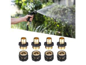 """4 Pairs Garden Hose Quick Connect Set Water Hose Fit Brass Female Male Connector Set - Standard 3/4"""" Aluminum Garden Hose Quick Connectors for Outdoor Use"""