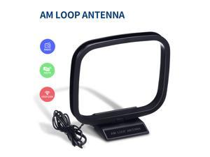 AM FM Loop Antenna 2 Pin Bare Wire Connector AM Antenna Cable Wire for Home Stereo Audio Receiver System Indoor