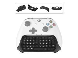 Mini Wireless Keyboard for Xbox One S Elite Controller Message Keypad Chatpad 2.4G With Headset and Audio Jack Black
