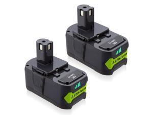 2 Pack 18V 6.0Ah Lithium Replacement Battery for Ryobi 18 Volt ONE and P102 P103 P104 P105 P107 P109 P122 Cordless Power Tools Batteries