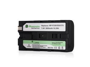 Powerextra 7.4V 2600mAh Li-ion Replacement Battery For Sony NP-F550 NP-F330 NP-F530 NP-F730 NP-F750 NP-F930 Digital Camera