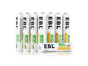 EBL 16 Pack AAA Battery 800mAh 1.2V Ni-MH Rechargeable Batteries