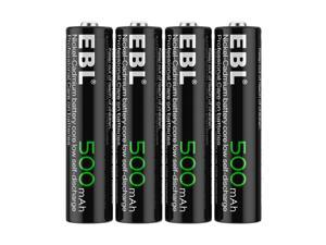 EBL 4 Pack 1.2V 500mAh  AAA Ni-CD Rechargeable Batteries for Solar Garden Light Gaming Controllers