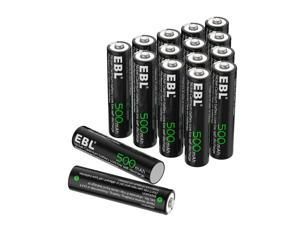 EBL 16 Pack 1.2V 500mAh Ni-Cd Battery AAA Rechargeable Batteries for Wireless Mouse and Keyboards