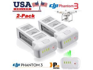 Powerextra 2 Pack 15.2V 4480mAh Replacement Intelligent Flight LiPo Battery for DJI Phantom 3 SE, Professional, Phantom 3 Advanced, Phantom 3 Standard, 4K Drones - Upgraded
