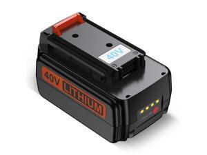 Powerextra 40 Volt MAX 3000mAh Replacement Battery for Black&Decker LBX2040 LBXR36 40V Power Tool Lithium ion Battery