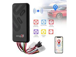 Car GPS Tracker GSM SIM GPRS Real Time Tracking Device Locator with Remote Monitoring Function for Cars, Motorcycles, Electrolic Cars and More