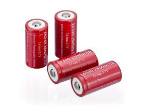 4pcs 3.7V CR123A Rechargeable Battery 2800mAh 16340 Battery For Torch Laser Camera Flashlight