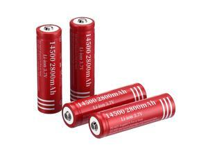 4 piece 2800mAh 14500 3.7V Li-ion Rechargeable Batteries for Torch Camera Flashlight