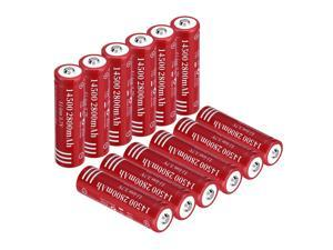 12 piece 2800mAh 14500 Battery 3.7V Li-ion Rechargeable Batteries for Torch Camera Flashlight