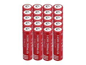 20 Pack 2800mAh Li-ion Battery 3.7V 14500 Rechargeable Batteries for Torch Camera Flashlight