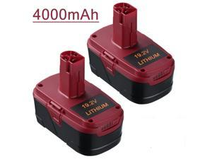 Powerextra 19.2V 4000mAh Replacement Battery for Craftsman C3 Compact Lithium-Ion Battery 11375 11374 Power Tools