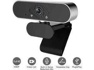 Webcam with Microphone, ZONEWAY 1080P HD Autofocus Pro Web Camera Built in Dual Noise Reduction Microphone with Wide Angel, USB Computer Camera for PC Mac Laptop Video Calling Conferencing Recording