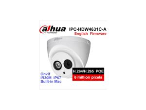 Dahua POE 6MP IP Camera IPC-HDW4631C-A IR 30m H.265 Built-in MIC IP67 Onvif