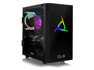 CLX SET Gaming PC - AMD Ryzen 7 3700X 3.6GHz 8-Core, 16GB DDR4 3000, GeForce RTX 2070 SUPER 8GB, 480GB SSD + 3TB HDD, WiFi, Black Mini-Tower RGB,  Windows 10 Home