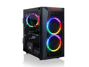 CLX SET VR-Ready Gaming Desktop - Liquid Cooled AMD Ryzen 9 5900X 3.7Ghz 12-Core Processor, 16GB DDR4 Memory, GeForce RTX 3070 8GB GDDR6 Graphics, 240GB SSD, 2TB HDD, WiFi, Windows 10 Home 64-bit