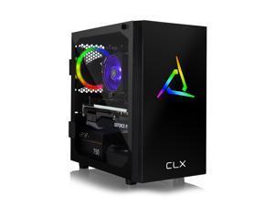 CLX SET VR-Ready Gaming Desktop - Liquid Cooled AMD Ryzen 7 3700X 3.6GHz 8-Core Processor, 32GB DDR4 Memory, GeForce RTX 3060 Ti 8GB GDDR6 Graphics, 960GB SSD, 4TB HDD, WiFi, Windows 10 Home 64-bit