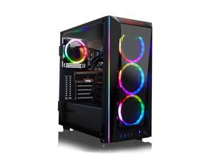 CLX SET VR-Ready Gaming Desktop - Liquid Cooled Intel Core i9 9900KF 3.6GHz 8-Core Processor, 32GB DDR4 Memory, Radeon RX 6900 XT 16GB GDDR6 Graphics, 480GB SSD, 3TB HDD, WiFi, Windows 10 Home 64-bit