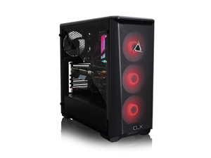 CLX SET VR-Ready Gaming Desktop - Liquid Cooled Intel Core i7 10700K 3.8Ghz 8-Core Processor, 32GB DDR4 Memory, GeForce RTX 3070 8GB GDDR6 Graphics, 960GB SSD, 4TB HDD, WiFi, Windows 10 Home 64-bit