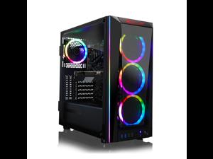 CLX SET VR-Ready Gaming Desktop - Liquid Cooled Intel Core i7 10700K 3.8Ghz 8-Core Processor, 16GB DDR4 Memory, GeForce RTX 3070 8GB GDDR6 Graphics, 480GB SSD, 2TB HDD, WiFi, Windows 10 Home 64-bit