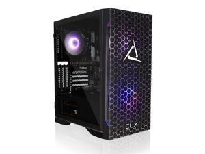 CLX SET Gaming Desktop - Liquid Cooled AMD Ryzen 5 5600X 3.7GHz 6-Core Processor, 16GB DDR4 Memory, Radeon RX 6700 XT 12GB GDDR6 Graphics, 500GB NVMe M.2 SSD, 3TB HDD, WiFi, Win 10 Home 64-bit