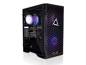 CLX SET Gaming Desktop - AMD Ryzen 7 3800X 3.9GHz 8-Core Processor, 16GB DDR4 Memory, Radeon RX 6700 XT 12GB GDDR6 Graphics, 500GB NVMe M.2 SSD, 3TB HDD, WiFi, Win 10 Home 64-bit