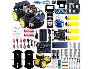 Elegoo UNO Project Upgraded Smart Robot Car Kit with UNO R3, Line Tracking Module, Ultrasonic Sensor, Bluetooth module ect.