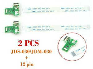 2 PCS USB Charging Port Board Controller JDS-030 +12 Pin Cable for Sony PS4 A227