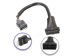 USB 3.0 20-Pin Header Female to USB 2.0 9-Pin Male Adapter Converter Cable