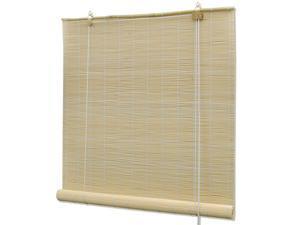 "vidaXL Roller Blinds Bamboo 59.1"" Natural Blackout Sunshade Privacy Screen"