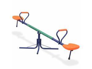 vidaXL 360-Degree Rotating Seesaw Orange Outdoor Kids Children Teeterboards