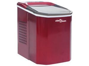 vidaXL Ice Cube Maker Red 0.37gal 33.1lbs/24h Countertop Automatic Machine