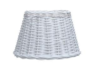 """vidaXL Lamp Shade Wicker 11.8""""x7.9"""" White Ceiling Hanging Light Shade Lighting"""