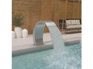 "vidaXL Pool Fountain 11.8"" Stainless Steel 304 Garden Outdoor Water Feature"