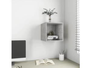 vidaXL Wall Cabinet Concrete Gray Chipboard Wall Mounted Hanging Shelf Storage