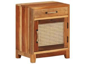 vidaXL Bedside Cabinet Solid Reclaimed Wood End Nightstand Storage Cabinet