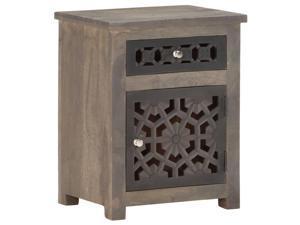 vidaXL Solid Mango Wood Bedside Cabinet Wooden Nightstand Storage Cabinet