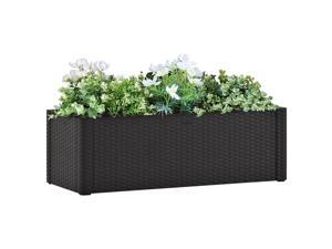 vidaXL Garden Raised Bed with Self Watering System Anthracite Outdoor Planter
