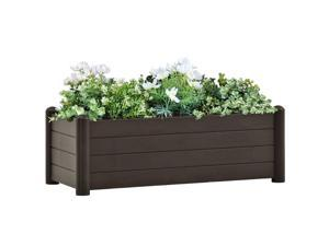 vidaXL Garden Raised Bed PP Mocha Outdoor Planter Planting Bed Plant Boxes