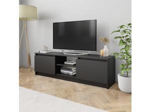 "vidaXL TV Cabinet Black 47.2"" Chipboard TV Stand Unit Entertainment Center"
