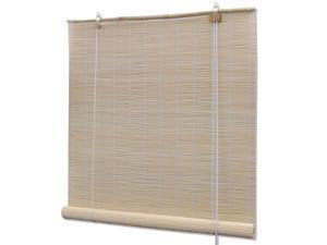 "vidaXL Roller Blinds Bamboo 55.1"" Natural Blackout Sunshade Privacy Screen"