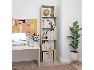 vidaXL Book Cabinet/Room Divider Sonoma Oak Chipboard Bookshelf Highboard