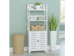 "vidaXL Bathroom Cabinet Albuquerque Wood White 18""x9.4""x46.3"""