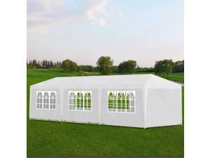 vidaXL Outdoor 10' x 30' White Party Tent with 8 Walls