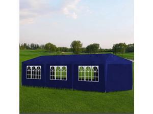 vidaXL 10' x 30' Blue Party Tent with 8 Walls