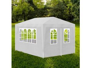 vidaXL Party Tent 10' x 13' with 4 Walls White