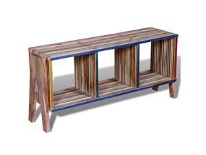 vidaXL TV Cabinet with 3 Shelves Stackable Reclaimed Teak Colorful