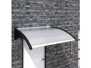 "vidaXL Door Awning 59""x39"" PC Outdoor Polycarbonate Front Patio Window Canopy"